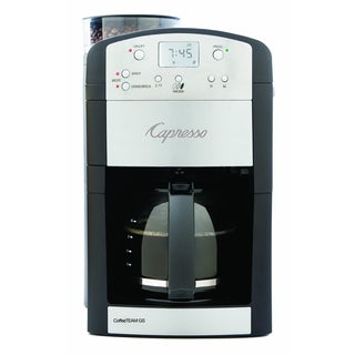 Capresso CoffeeTeam GS 10-Cup Digital Coffeemaker with Conical Burr Grinder