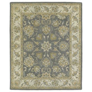 Hand-tufted Joaquin Grey Agra Wool Rug (9' x 12')