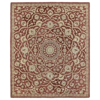 Hand-tufted Joaquin Red Medallion Wool Rug (5' x 7'9)