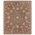 Hand-tufted Joaquin Red Medallion Wool Rug (9' x 12')