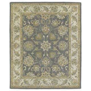 Hand-tufted Joaquin Grey Agra Wool Rug (10' x 14')