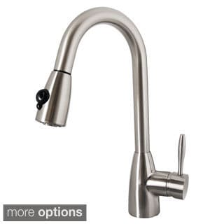 Virtu USA Neptune PSK-1001 Single Handle Kitchen Faucet in Brush Nickel or Polish Chrome