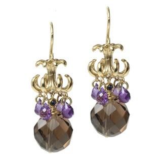 Michael Valitutti/ Kristen Gold over Silver Multi-gemstone Earrings