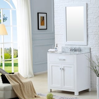 Madison Solid White Single Sink Bathroom Vanity
