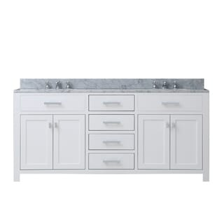 Madison Solid White Double Sink Bathroom Vanity