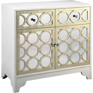 Sitka White and Gold Accent Cabinet