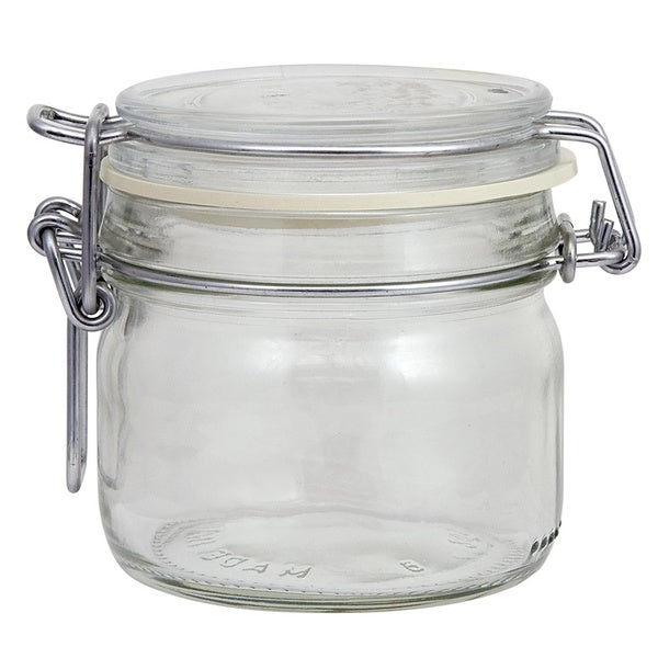 Glass Clamp Lid Jar