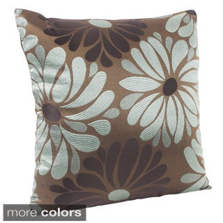 Flower Design 18-inch Decorative Pillow