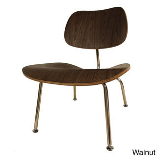 LCM' Eames Style Plywood Metal Lounge Chair