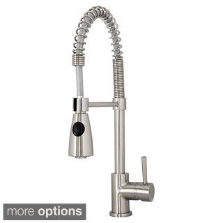 Virtu USA Neso PSK-1005 Single Handle Kitchen Faucet in Brush Nickel or Polish Chrome