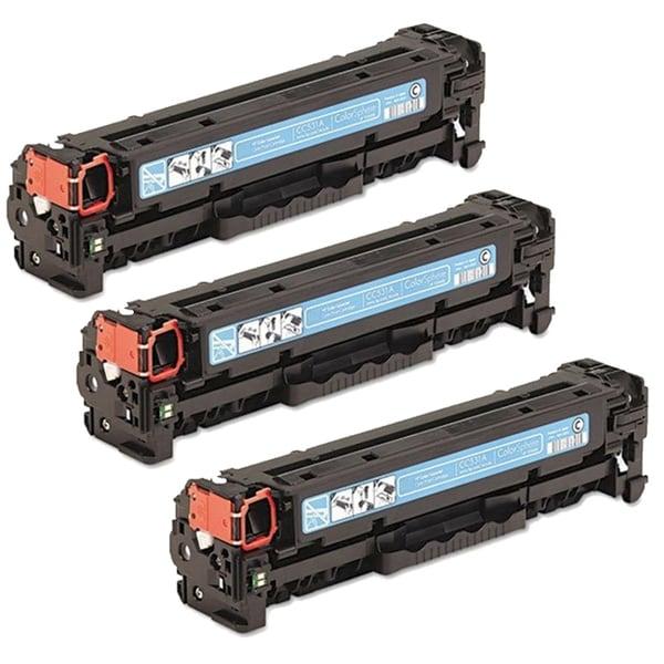 HP CC531A/ HP 304A Compatible Cyan Toner Cartridge (Pack of 3)