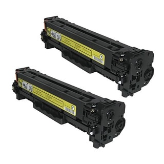HP CB542A (HP 125A) Compatible Yellow Toner Cartridge (Pack of 2)
