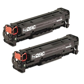 HP CC530A (HP 304A) Compatible Black Toner Cartridge (Pack of 2)