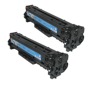 HP CB541A (HP 125A) Compatible Cyan Toner Cartridge (Pack of 2)