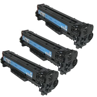 HP CB541A (HP 125A) Compatible Cyan Toner Cartridge (Pack of 3)