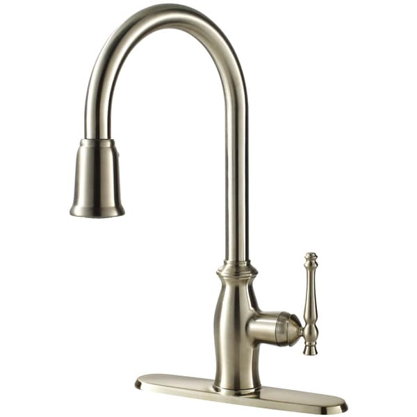 Fontaine Faucets : Fontaine Giordana Stainless Steel Single-handle Pull Down Kitchen ...