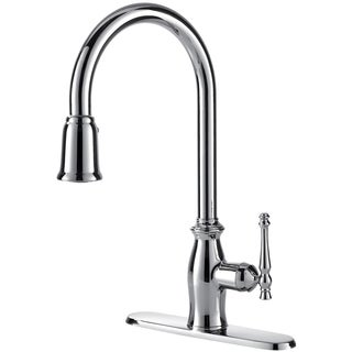 Fontaine Giordana Chrome Single-handle Pull Down Kitchen Faucet