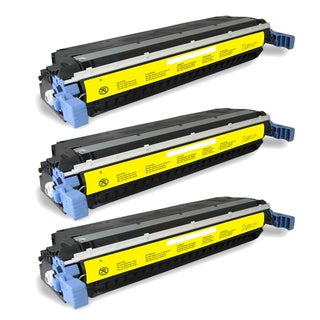 HP C9732A (HP 645A) Compatible Yellow Toner Cartridge (Pack of 3)