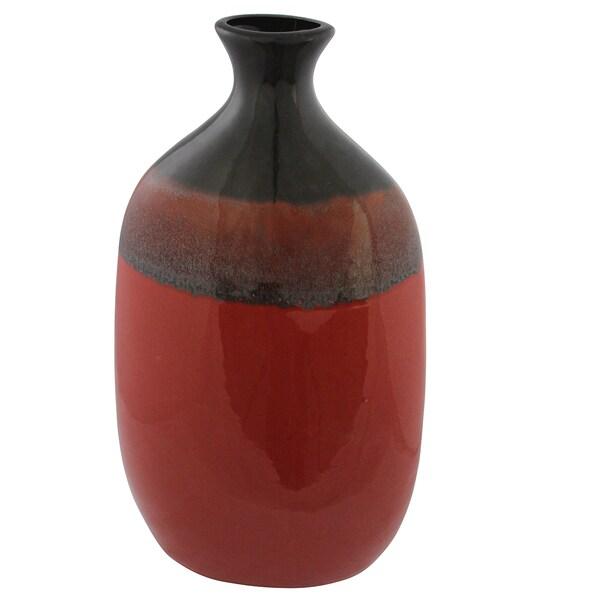 Crimson Red Vase