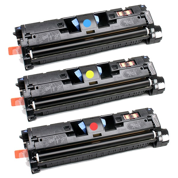 HP C9701A (HP 121A) Compatible CYM Set Toner Cartridges (Pack of 3)