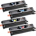 NL-Compatible C9700A (NL-Compatible 121A) Compatible BCYM Set Toner Cartridges (Pack of 4)
