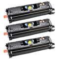 NL-Compatible C9702A (NL-Compatible 121A) Compatible Yellow Toner Cartridges (Pack of 3)