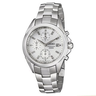 Seiko Women's 'Chronograph' Stainless Steel Chronograph Watch