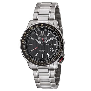 Seiko Men's 'Bracelet' Stainless Steel Military Time Watch