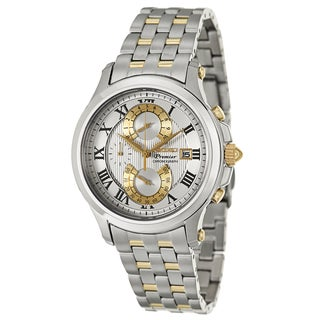 Seiko Men's 'Premier' Chronograph Two-Tone Stainless Steel Watch