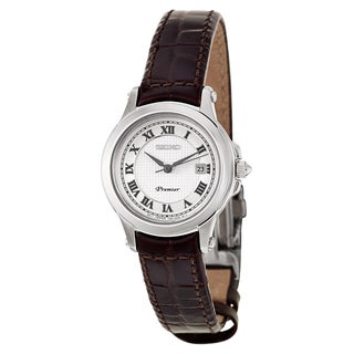 Seiko Women's 'Premier' Stainless Steel Japanese Quartz Watch
