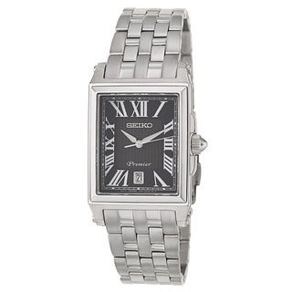 Seiko Men's 'Premier' Stainless Steel Japanese Quartz Watch
