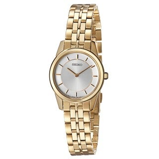 Seiko Women's 'Bracelet' Yellow Gold-Plated Stainless Steel Japnese Quartz Watch