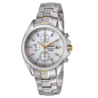 Seiko Women's Two-Tone Stainless Steel Mother-of-Pearl Dial Watch