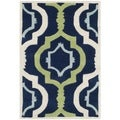 Safavieh Handmade Moroccan Chatham Dark Blue/ Green Wool Rug (2' x 3')