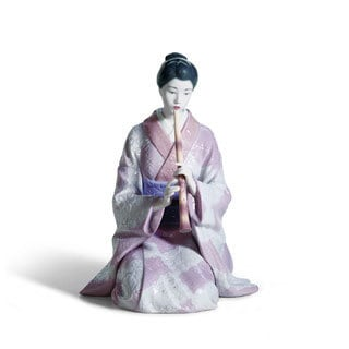 Lladro Shakuhachi Player Porcelain Figure