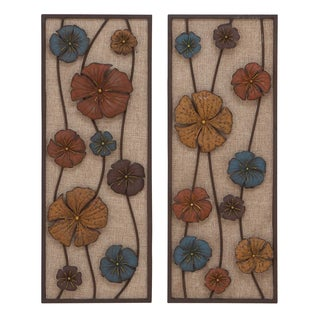 Metal Wall Panel in Urbane Finesse (Set of 2)