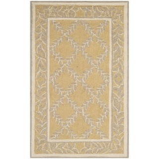 Safavieh Hand-hooked Chelsea Yellow/ Grey Wool Rug (2'9 x 4'9)