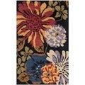 Safavieh Handmade Jardin Black Wool Rug (3' x 5')
