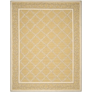 Safavieh Hand-hooked Chelsea Yellow/ Grey Wool Rug (6' x 9')