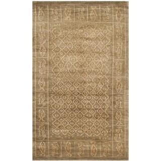 Safavieh Hand-knotted Tibetan Green Wool/ Silk Area Rug (3' x 5')