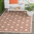 Safavieh Indoor/ Outdoor Veranda Cream/ Red Rug (2'7 x 5')