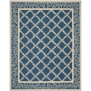 Safavieh Hand-hooked Chelsea Navy/ Cream Wool Rug (7'9 x 9'9)
