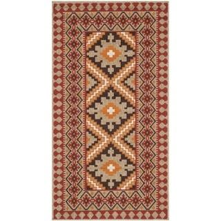 Safavieh Indoor/ Outdoor Veranda Red/ Natural Rug (2'7 x 5')