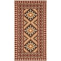 Safavieh Indoor/ Outdoor Veranda Red/ Natural Rug (2'7 x 5')