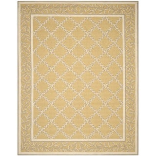 Safavieh Hand-hooked Chelsea Yellow/ Grey Wool Rug (8'9 x 11'9)