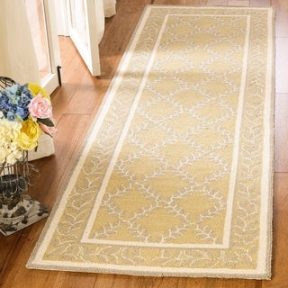 Safavieh Hand-hooked Chelsea Yellow/ Grey Wool Rug (2'6 x 12')