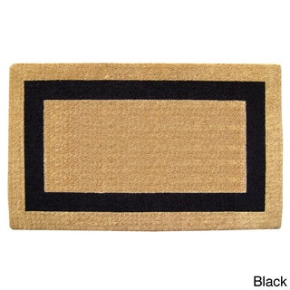 "Heavy-Duty Coir Single Picture Frame Doormat - 2'6"" x 4'"