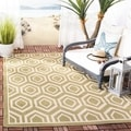 Safavieh Indoor/ Outdoor Courtyard Green/ Beige Rug (2'7 x 5')