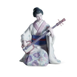 Lladro 'Shamishen Player' Porcelain Figure