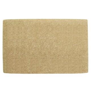 Nedia Home Light Brown Coir Heavy-duty Borderless Doormat